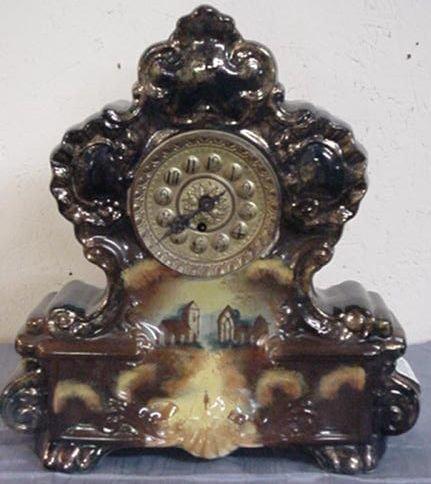 14: Large Porcelain Matle Clock  262-86