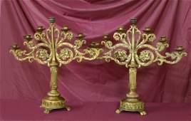 20 Pair of Brass Candelabra
