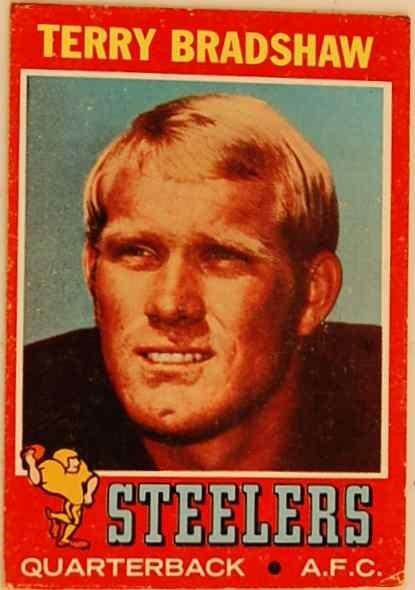 2: TERRY BRADSHAW 1971 ROOKIE CARD