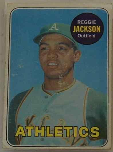 6: REGGIE JACKSON 1969 ROOKIE CARD