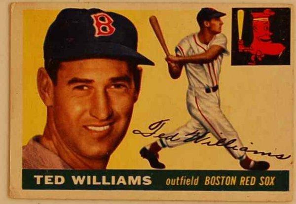 8: TED WILLIAMS 1955 BASEBALL CARD