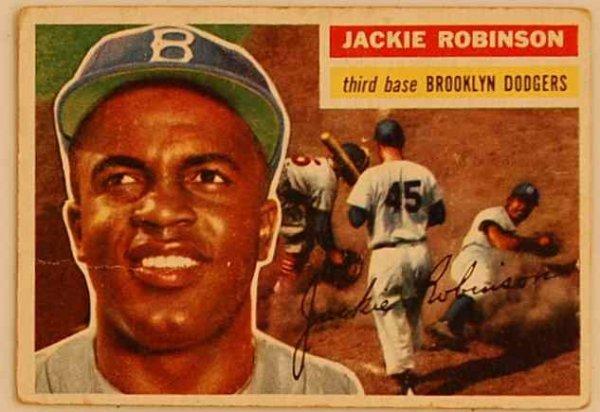 16: JACKIE ROBINSON 1956 BASEBALL CARD