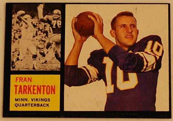 22: FRAN TARKENTON 1962 ROOKIE CARD
