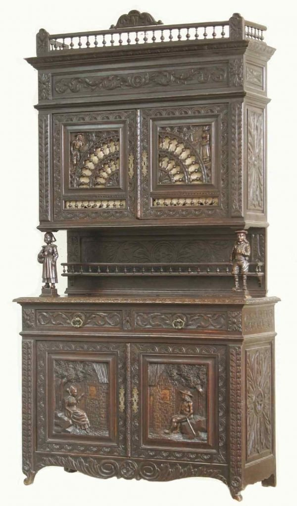 2020: BRITTANY CARVED HENRY II CUPBOARD