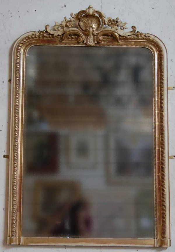 2023: ANTIQUE FRENCH CARVED MIRROR