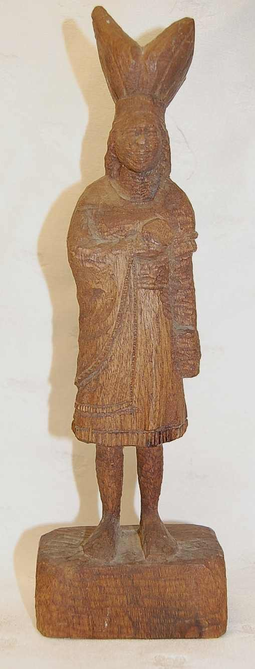 207: CARVED WOODEN INDIAN WOMAN