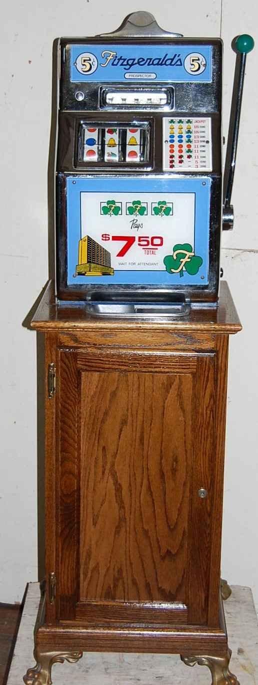 225: FITZGERALD 5c PROSPECTOR SLOT MACHINE