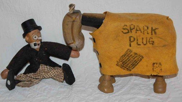 506: SCHOENHUT SPARK PLUG & BARNEY GOOGLE FIGURES