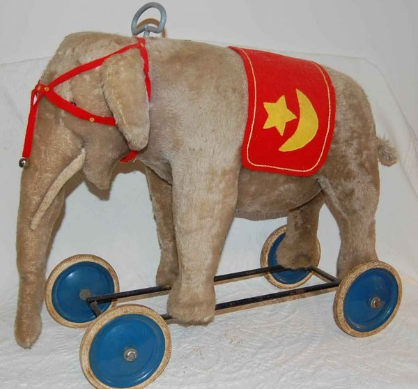 510: STEIFF ELEPHANT RIDING TOY
