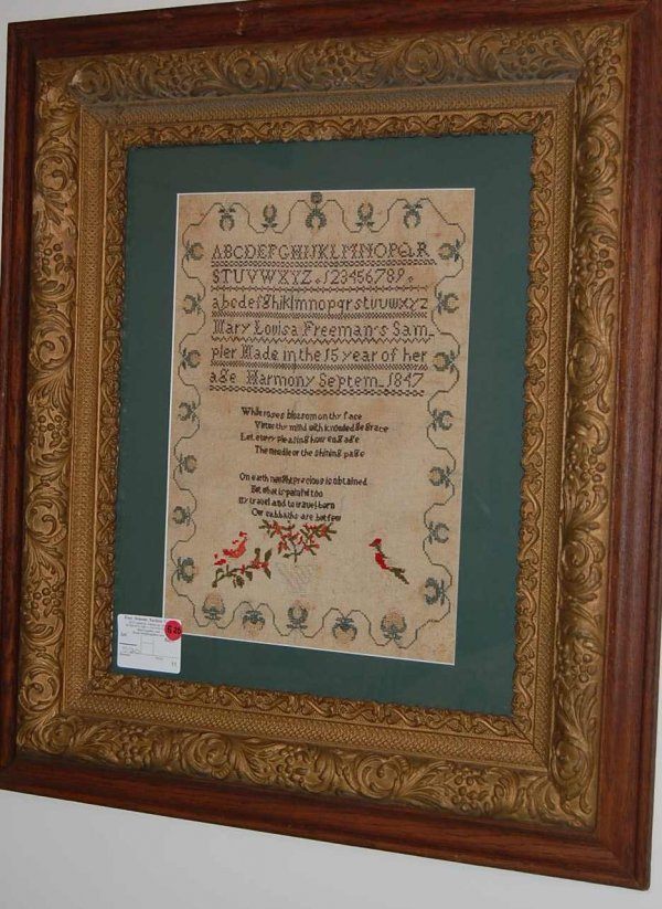 520: EARLY SAMPLER DATED 1847