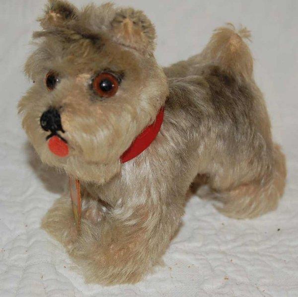 """522: STEIFF """"TESSIE"""" MINITURE DOG"""