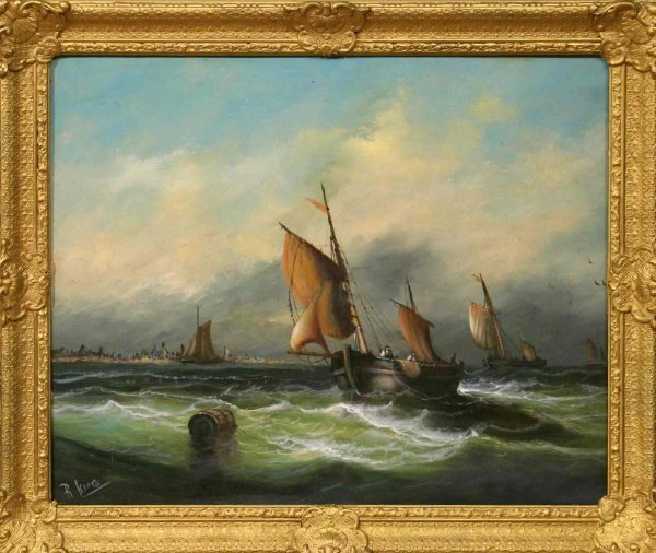 5: ROBERT I. KING SIGNED OIL PAINTING