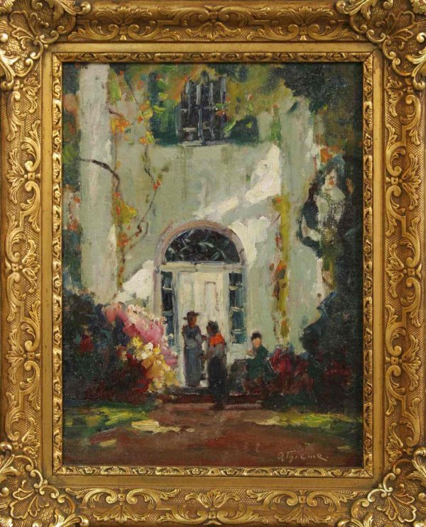61: ANTHONY THIEME OIL ON BOARD PAINTING