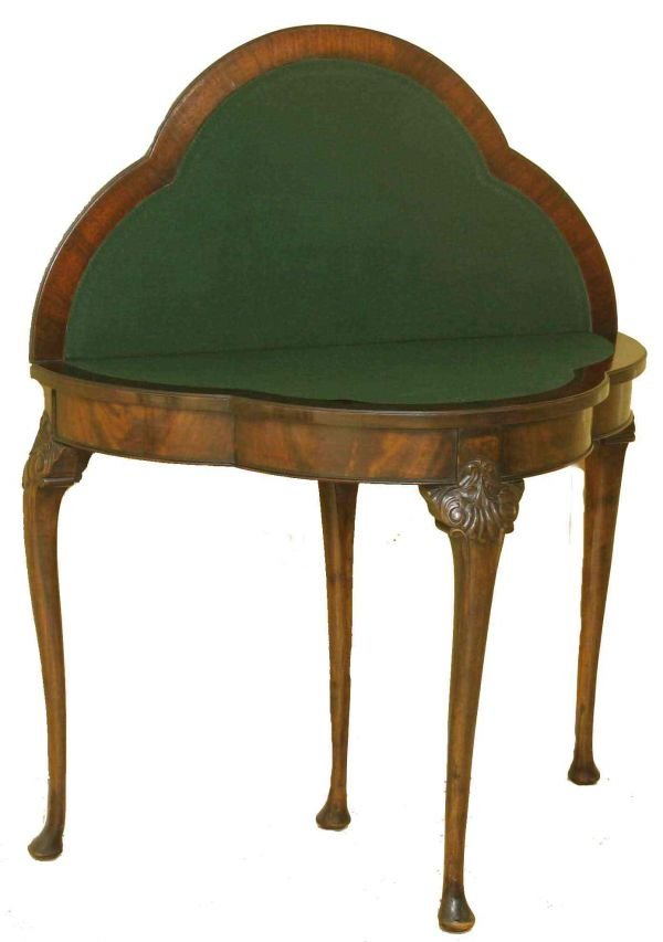 2: QUEENE ANNE ENGLISH MAHOGANY GAME TABLE