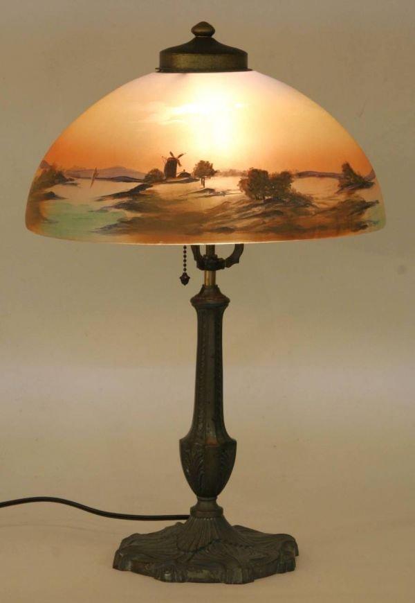 1023: PITTSBURG REVERSE PAINTED LAMP