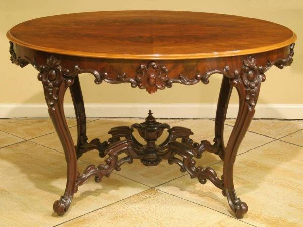 8: OVAL SWEDISH ROCOCCO PARLOR TABLE