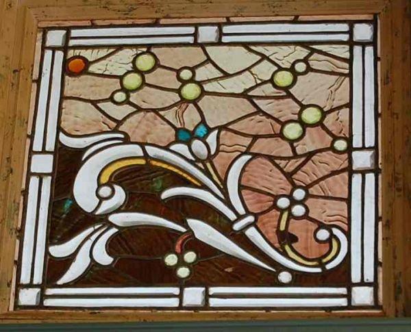 3: JEWELED,BEVELED & STAIN GLASS LEADED WINDOW