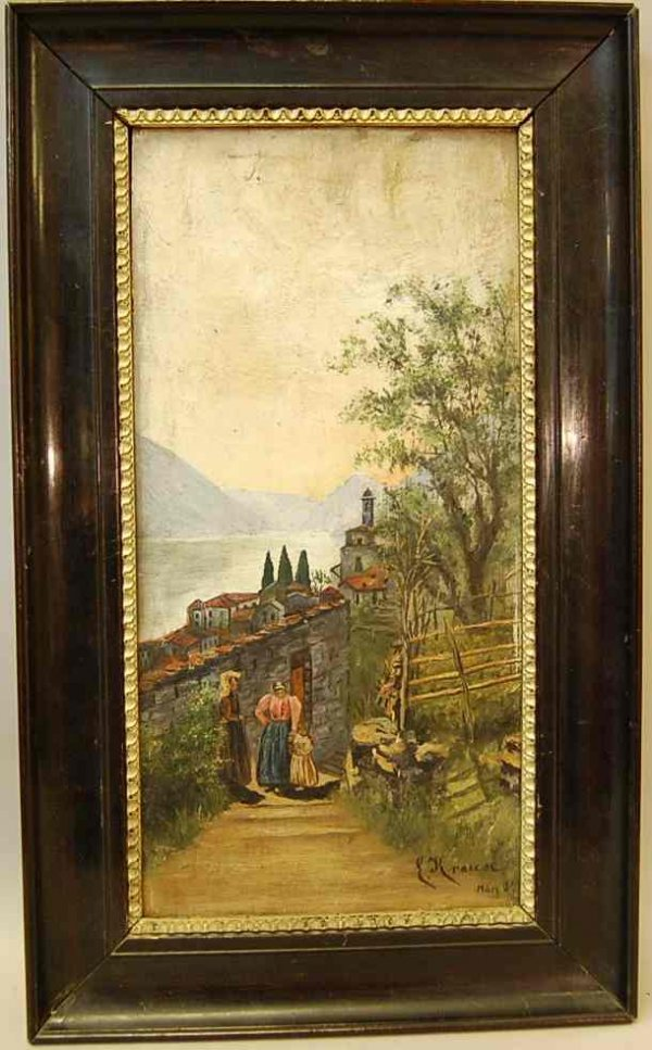 505: ERICH KRAUSE OIL PAINTING DATED 1907