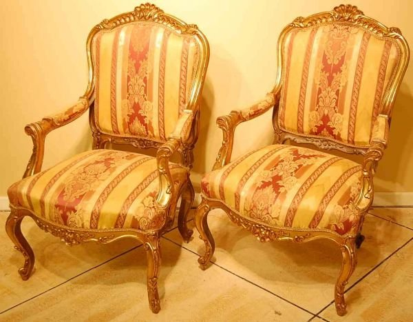 518: PAIR OF FRENCH SALON CHAIRS
