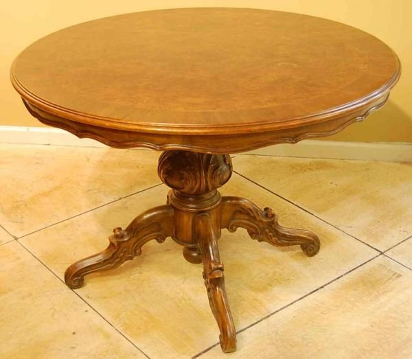 504: BELGIAN BURL WALNUT DINING TABLE