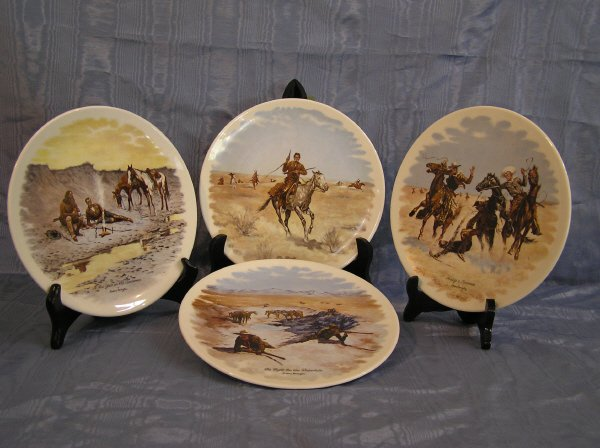 2: Set of Four Remington Collector Plates