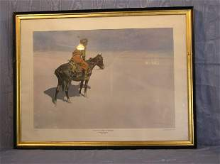 """5: Remington Print """"The Scout; Friend or Enemies"""""""