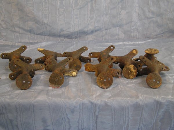 6: Collection of 10 Antique Saddle Horns