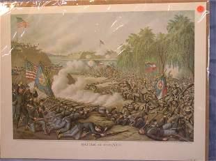 "8: Kurtz & Allison Print, ""Battle of Cornith"""