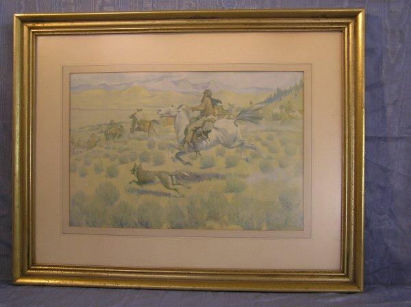 9: Framed Western Print