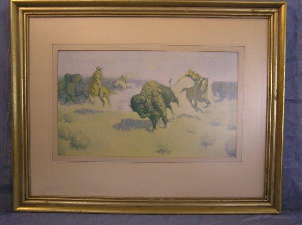 11: Western Print of a Hunting Scene