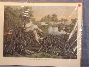 "12: Kurtz & Allison print, ""Battle of Wilson's Creek"""