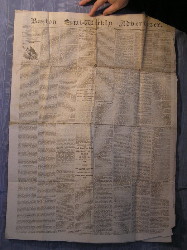 15: Civil War Era Newspaper