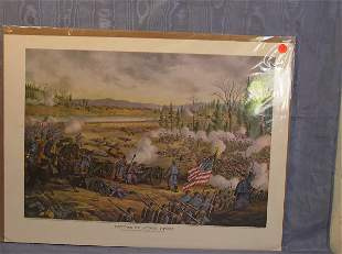 "17: Kurt & Allison Print, ""Battle of Stone River"""