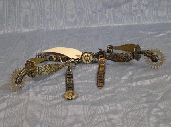 19: Pair of Western Spurs with Link Straps