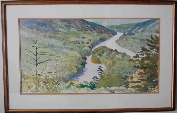 5: ALAN CAMPBELL LANDSCAPE WATERCOLOR PAINTING