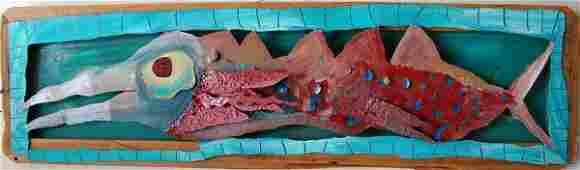 21 WILLIE WILLIE FOLK ART FISH