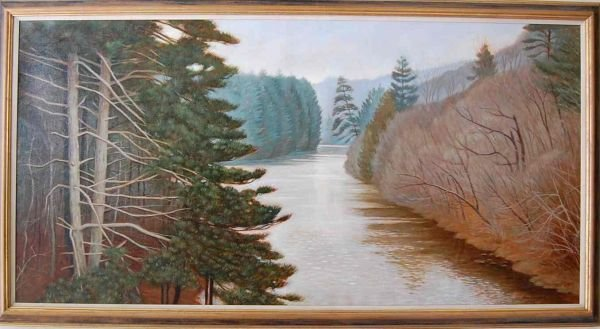 79: ALAN CAMPBELL OIL ON CANVAS PAINTING
