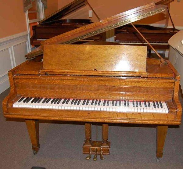 """6: KIMBALL OAK 5'7"""" MEDIUM GRAND PIANO"""