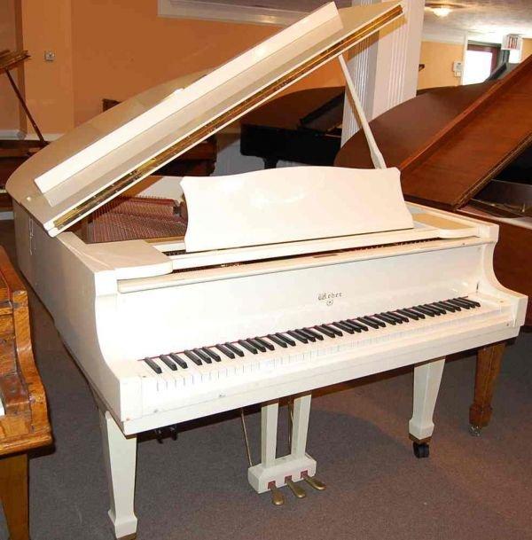 "7: WEBER IVORY 5'7"" MEDIUM GRAND PIANO"