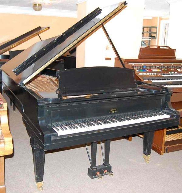8: WEBER 7' EBONY GRAND PIANO