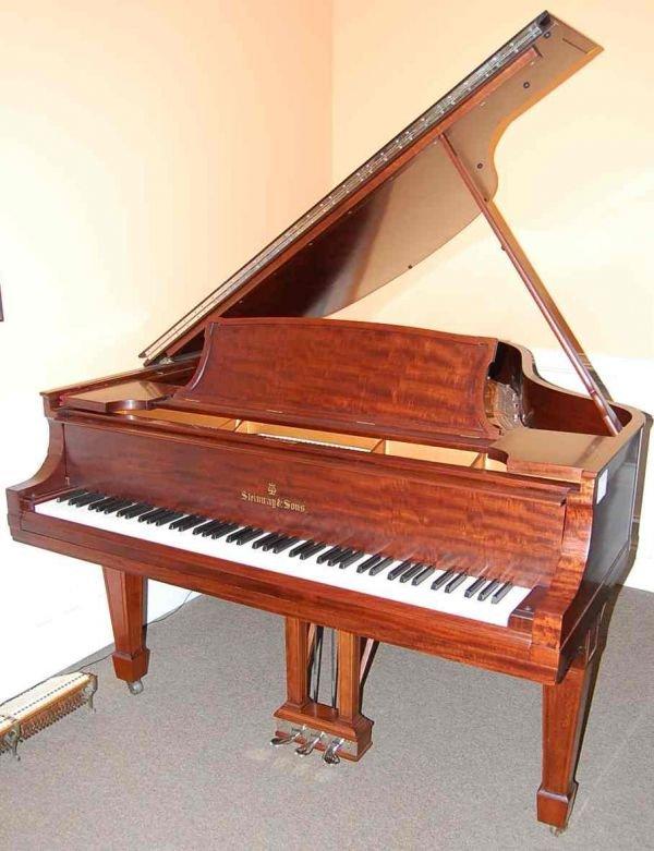 10: STEINWAY & SONS MODEL  O  GRAND PIANO