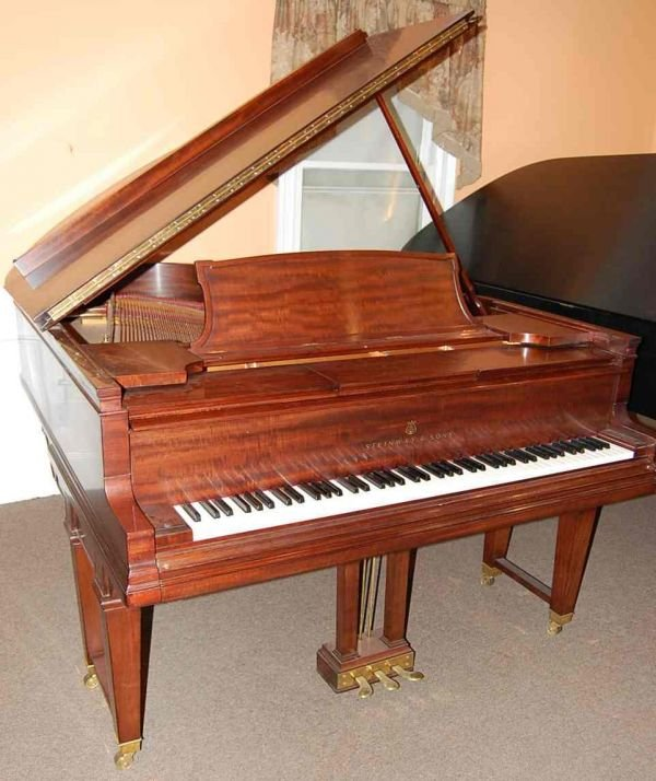 """12: STEINWAY & SONS PLAYER 6'6"""" GRAND PIANO"""