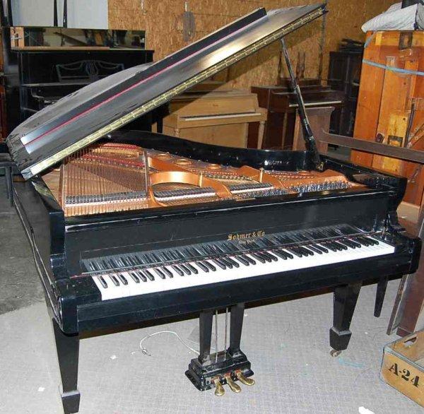 21: SOHMER 6' EBONY GRAND PIANO