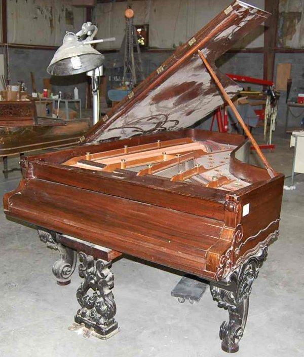 22: WEBER 7' ROSEWOOD GRAND PIANO