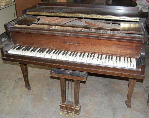 """39: DeKOVEN 4'6"""" BABY GRAND PIANO"""