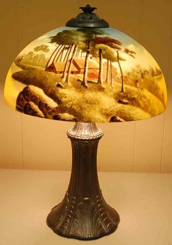 1041: PHOENIX REVERSE PAINTED LAMP