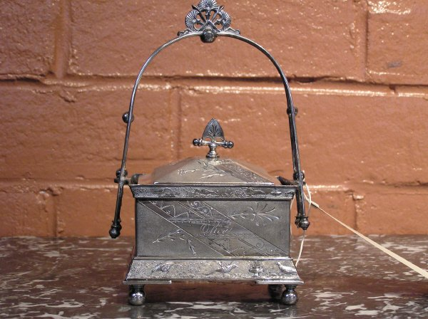 1: Victorian Silver Plate Olive Server  11-16