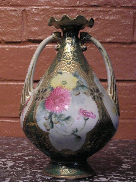 4: Double Handle Porcelain Vase  800-82