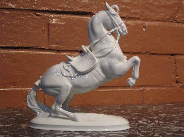 "10: White Porcelain Horse signed ""Wien""  813-5"