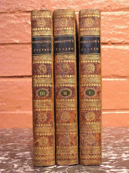 22: 3 Volumes Middletons Life of Marcus Tullius Cicero